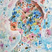Картины и панно handmade. Livemaster - original item Painting abstract Portrait of a stranger painting acrylic. Handmade.