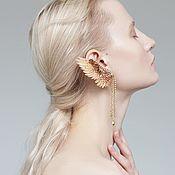 Cuff Earrings handmade. Livemaster - original item Kaff with puset