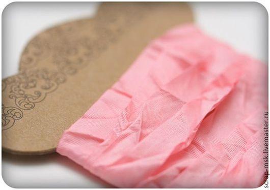 Шитье ручной работы. Ярмарка Мастеров - ручная работа. Купить Шебби ленточка розовый 510111. Handmade. Магазин скрапбукинга