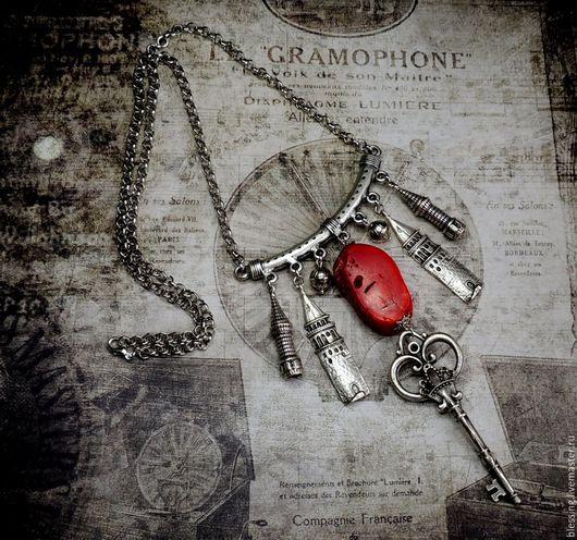 Колье `Ключ от Старого города`. Поделочные камни. Ярмарка Мастеров. Solar wind.