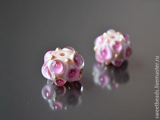 Для украшений ручной работы. Ярмарка Мастеров - ручная работа. Купить Бусина Нимфа лампворк лэмпворк, розовая. Handmade.
