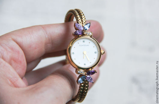 Винтажные украшения. Ярмарка Мастеров - ручная работа. Купить Часы FONTENAY PARIS ретро. Handmade. Комбинированный, часы, ретро