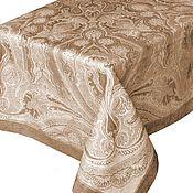 Для дома и интерьера ручной работы. Ярмарка Мастеров - ручная работа Скатерть коричневая, хлопок 178х274 см. Handmade.