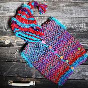 Работы для детей, handmade. Livemaster - original item Knitted baby vest. Knitted baby vest Mysterious gnome. Handmade.
