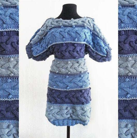 Платья ручной работы. Ярмарка Мастеров - ручная работа. Купить Платье BLUE SHADE. Handmade. Платье, косы, авторская модель