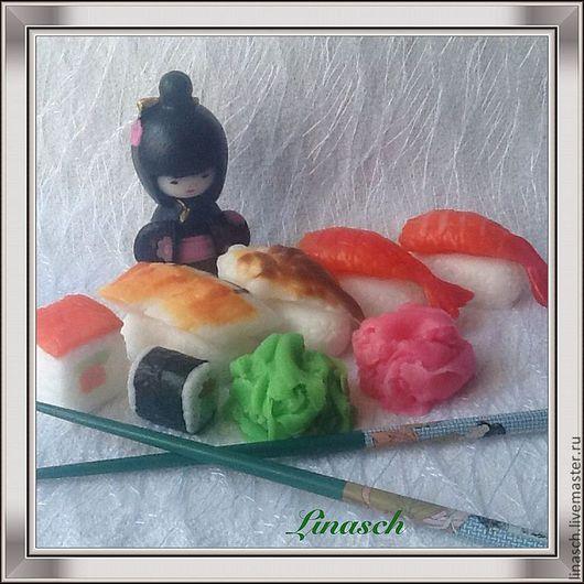 Мыло ручной работы. Ярмарка Мастеров - ручная работа. Купить Набор суши. Handmade. Мыло, подарок на любой случай, мужчине