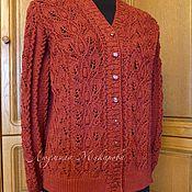 """Одежда ручной работы. Ярмарка Мастеров - ручная работа Кардиган """"Terracotta"""". Handmade."""