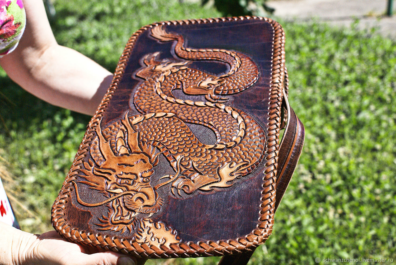 Handbags handmade. Livemaster - handmade. Buy Handbag female Japanese Dragon.Bag, crossbody bag, leather shoulder bag, leather