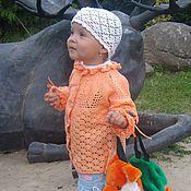 """Работы для детей, ручной работы. Ярмарка Мастеров - ручная работа Кофточка """"Оранжевое лето"""". Handmade."""