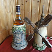 Подарки к праздникам ручной работы. Ярмарка Мастеров - ручная работа Мельница - футляр для бутылки. Handmade.