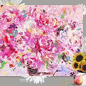 Картины и панно ручной работы. Ярмарка Мастеров - ручная работа Картина маслом «Пышный аромат» 60/80см. Handmade.