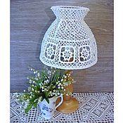 Для дома и интерьера handmade. Livemaster - original item Lampshade for table lamp, crocheted. Handmade.