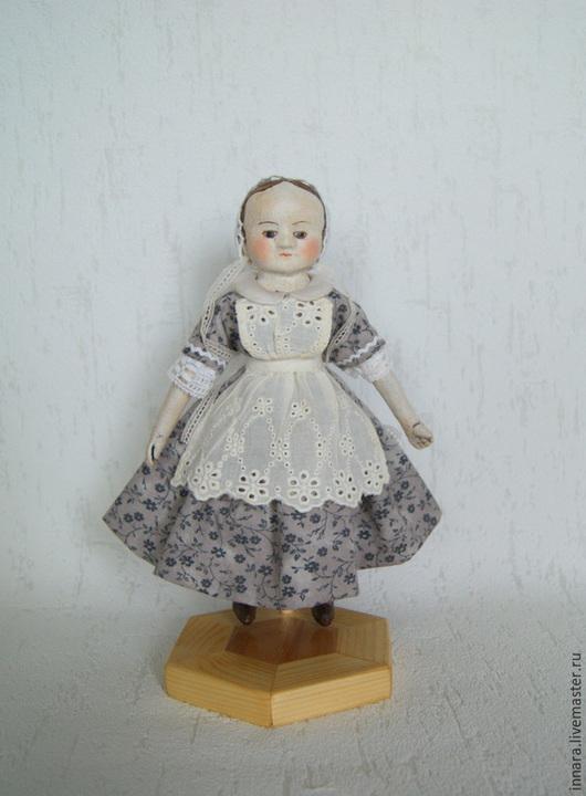 Коллекционные куклы ручной работы. Ярмарка Мастеров - ручная работа. Купить Мини-кукла в стиле Izannah Walker. Тина. Handmade.