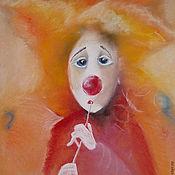 Картины и панно ручной работы. Ярмарка Мастеров - ручная работа Оранжевый клоун. Handmade.