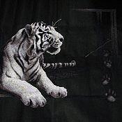 Картины и панно ручной работы. Ярмарка Мастеров - ручная работа белый тигр. Handmade.