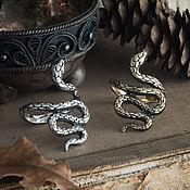 Украшения handmade. Livemaster - original item Snake Ring. Ring with a snake. Snake ring. bronze silver.. Handmade.