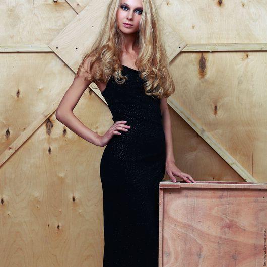 """Платья ручной работы. Ярмарка Мастеров - ручная работа. Купить Платье """"Вечернее рандеву"""". Handmade. Черный, дизайнерское платье"""