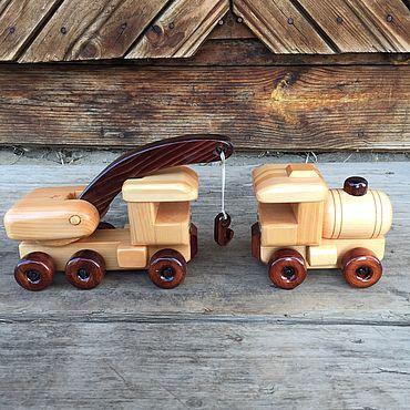 Куклы и игрушки ручной работы. Ярмарка Мастеров - ручная работа Набор техники №2 деревянный. Handmade.