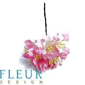 Материалы для творчества ручной работы. Ярмарка Мастеров - ручная работа Цветы Лилии , цвет Нежно-розовый, 3,75 см, 5 шт. Handmade.