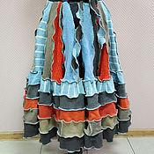 """Одежда ручной работы. Ярмарка Мастеров - ручная работа Лоскутная юбка """"Апрель"""". Handmade."""