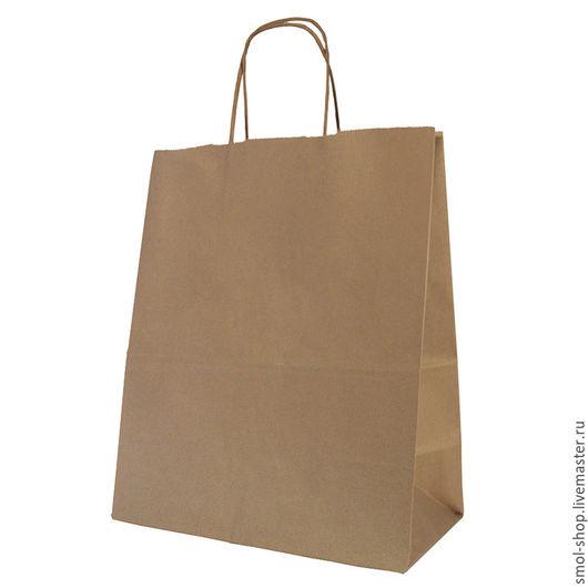 Упаковка ручной работы. Ярмарка Мастеров - ручная работа. Купить крафт - пакеты с кручеными ручками - 5 размеров. Handmade. Коричневый