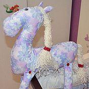 Куклы и игрушки ручной работы. Ярмарка Мастеров - ручная работа Цветочная Лошадь (подушка-игрушка). Handmade.