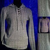 Мужская одежда handmade. Livemaster - original item Knitted from linen.Sweatshirt