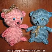 Куклы и игрушки ручной работы. Ярмарка Мастеров - ручная работа влюбленные мишки. Handmade.