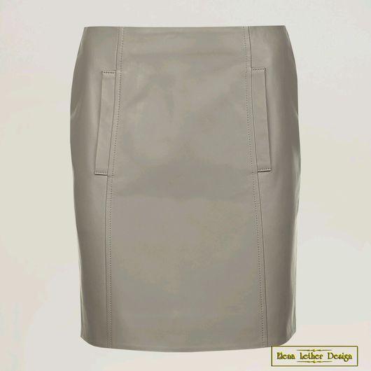 Юбки ручной работы. Ярмарка Мастеров - ручная работа. Купить Узкая короткая юбка из натуральной кожи. Handmade. Кожаная юбка