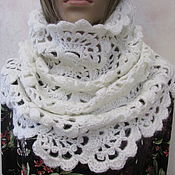 Аксессуары handmade. Livemaster - original item Snood, collar, half-hair, white. Handmade.