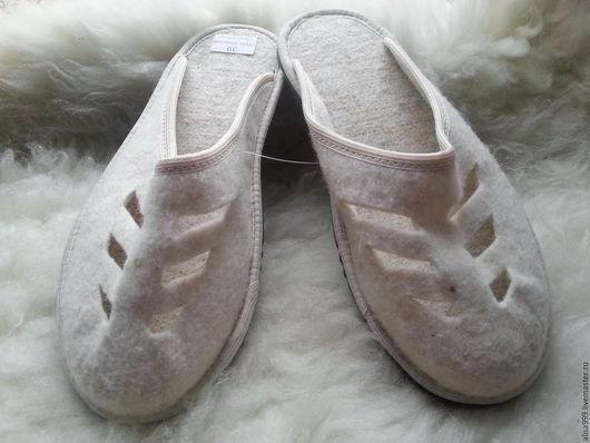 Обувь ручной работы. Ярмарка Мастеров - ручная работа. Купить Женские войлочные тапочки. Handmade. Серый, войлочные тапочки