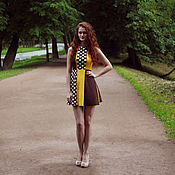Одежда handmade. Livemaster - original item Polka dot dress. Summer dress. Dress. short dress.. Handmade.