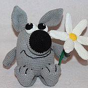 Куклы и игрушки ручной работы. Ярмарка Мастеров - ручная работа Волчонок с ромашкой. Handmade.