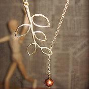 Украшения handmade. Livemaster - original item Golden twig. Handmade.