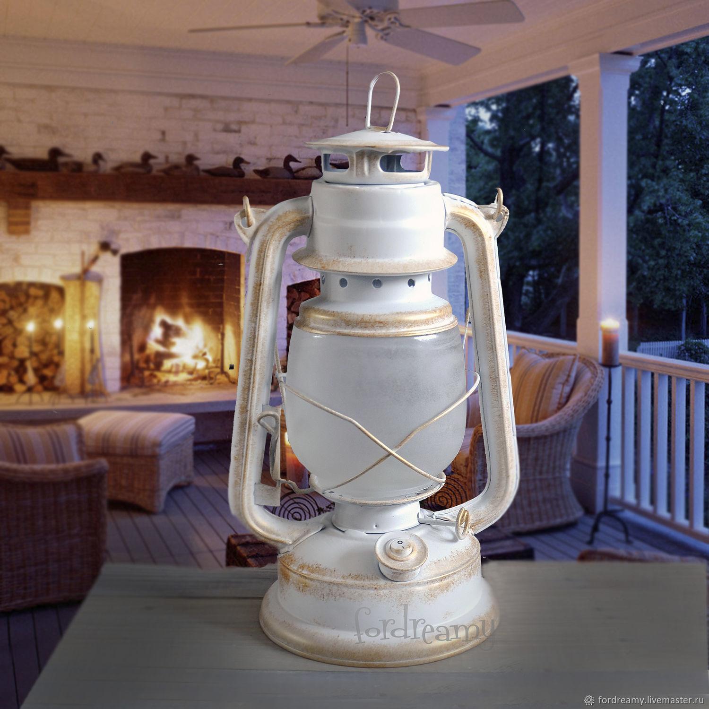 Lamps handmade. Livemaster - handmade. Buy Kerosene lamp battery powered white led.White, props for photos