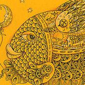 """Картины и панно ручной работы. Ярмарка Мастеров - ручная работа картина""""Солнечная рыбка"""". Handmade."""