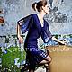 Платья ручной работы. Ярмарка Мастеров - ручная работа. Купить Платье с рукавом-кимоно. Handmade. Тёмно-синий, черное платье