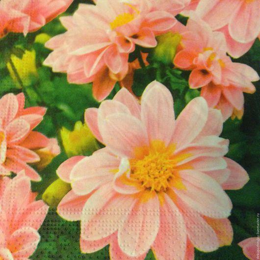 Яркость лета - ромашки на зеленом -салфетка для декупажа Декупажная радость