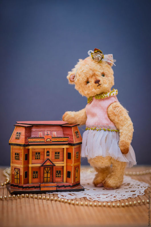 """Мишки Тедди ручной работы. Ярмарка Мастеров - ручная работа. Купить Карманная """"Sweet baby"""".. Handmade. Желтый"""