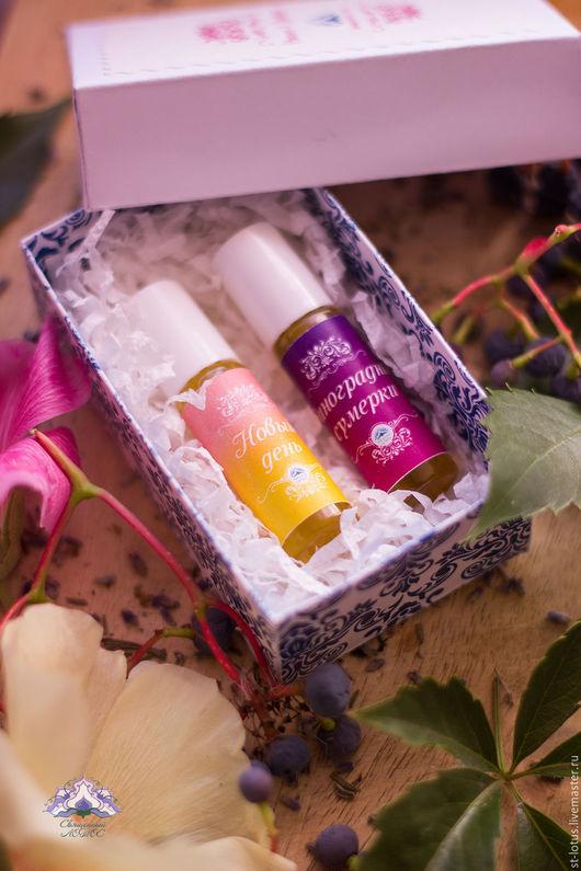 Аромадуэт Отпуск в Провансе: масляные духи Новый день и Виноградные сумерки Ботаническая парфюмерия Сакральный лотос