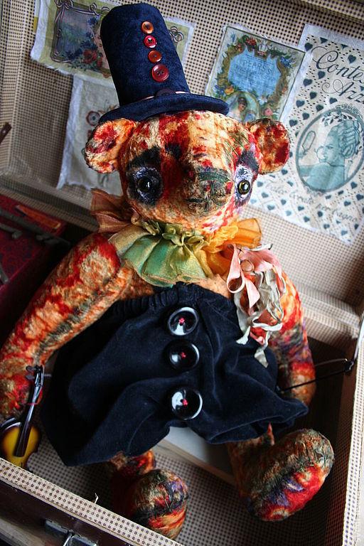 """Мишки Тедди ручной работы. Ярмарка Мастеров - ручная работа. Купить Мишка тедди"""" Грустный Клоун"""". Handmade. Рыжий, мишка"""
