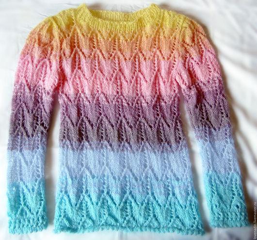 Кофты и свитера ручной работы. Ярмарка Мастеров - ручная работа. Купить Воздушное чудо. Handmade. Розовый, легкий джемпер, шерсть