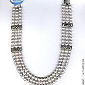 Украшения handmade. Livemaster - original item Natural pearl necklace silver. Handmade.
