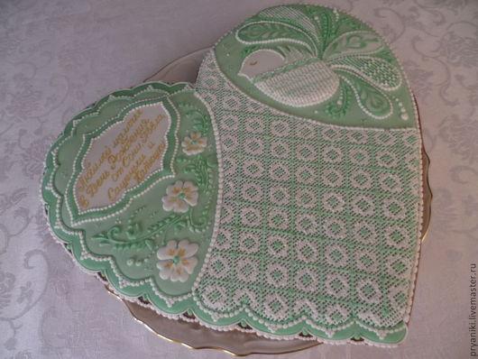 """Кулинарные сувениры ручной работы. Ярмарка Мастеров - ручная работа. Купить Пряник """"Сладкая мята"""". Handmade. Мятный, торжественный, яйцо"""