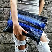 Сумки и аксессуары handmade. Livemaster - original item Clutch bag of genuine Python leather, lambskin and alligator. Handmade.
