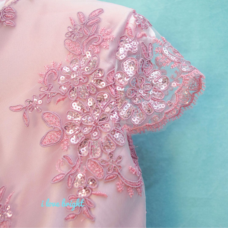 Нарядное платье Пудровый блеск р.104-110