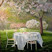 """Картины и панно ручной работы. Ярмарка Мастеров - ручная работа """"Вишневый сад"""". Handmade."""