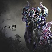 Куклы и игрушки handmade. Livemaster - original item Pergaia, the Flowing spirit of Darkness. Handmade.