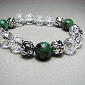 Украшения handmade. Livemaster - original item Bracelet with rock crystal and zoisite
