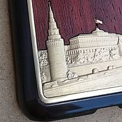 handmade. Livemaster - original item CASE: Moscow Kremlin protective bumper for phone (wenge, bronze). Handmade.